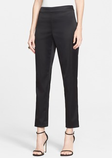 St. John Collection 'Emma' Structured Stretch Satin Crop Pants