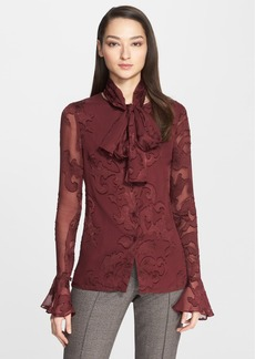 St. John Collection Fil Coupé Blossom Blouse