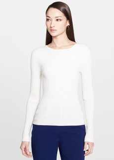 St. John Collection Fine Gauge Rib Knit Long Sleeve Top