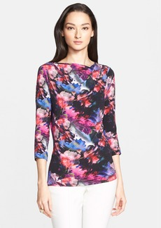 St. John Collection Floralscape Print Jersey Tee