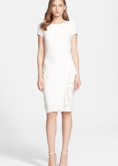 St. John Collection Gathered Luxe Crepe Dress