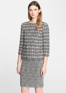 St. John Collection Houndstooth Tweed Top