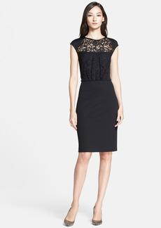 St. John Collection Lace Bodice Milano Knit Dress