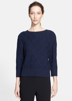 St. John Collection Lattice Cable Knit Sweater