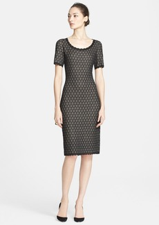 St. John Collection Layered Pointelle Lace Knit Dress