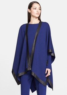 St. John Collection Leather Border Milano Knit Wrap