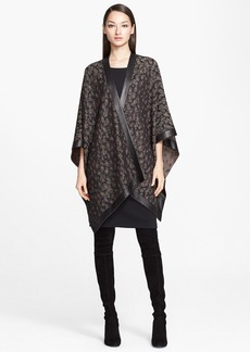 St. John Collection Leopard Jacquard Knit Wrap