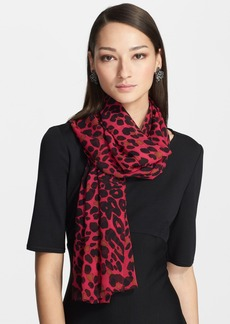 St. John Collection Leopard Print Silk Georgette Scarf