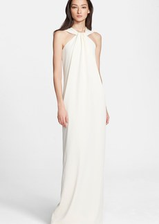 St. John Collection Lightweight Crepe Cady Halter Gown
