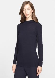 St. John Collection Lightweight Jersey Knit Mock Neck Sweater