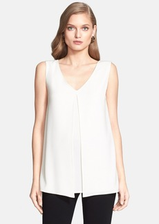 St. John Collection Luxe Crepe V-Neck Shell