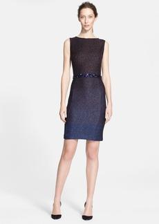 St. John Collection Metallic Ombré Knit Dress