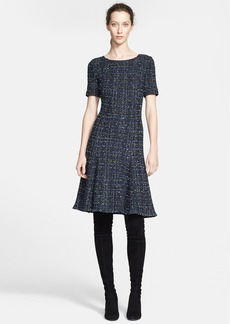 St. John Collection Metallic Plaid Knit Dress