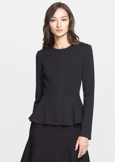 St. John Collection Milano Knit Flounce Peplum Jacket