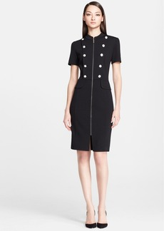 St. John Collection Milano Knit Military Dress