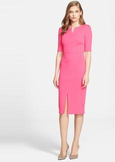 St. John Collection Milano Knit V-Neck Dress