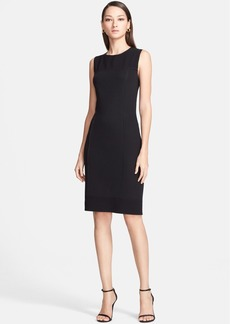 St. John Collection Milano Piqué Knit Dress with Crepe Marocain Panels