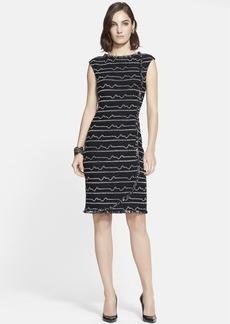 St. John Collection Multi Peak Knit Faux Wrap Dress