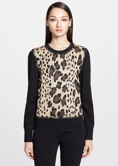 St. John Collection Ombré Leopard Jacquard Knit Sweater