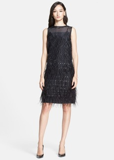 St. John Collection Organza Fil Coupe Shift Dress
