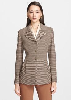 St. John Collection Ottoman Stripe Tweed Knit Jacket
