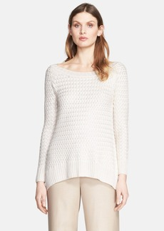 St. John Collection Polished Basket Weave Knit Sweater