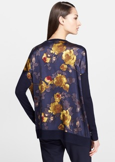 St. John Collection Print Charmeuse & Silk Blend Pullover