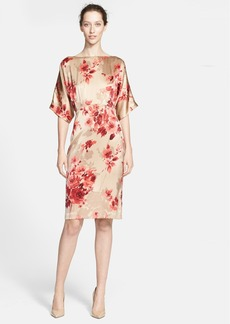St. John Collection Print Silk Charmeuse Dress