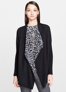 St. John Collection Reversible Leopard & Honeycomb Knit Cardigan