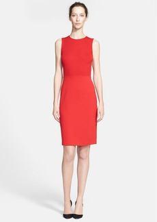 St. John Collection Ribbed Bodice Milano Knit Dress