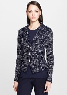 St. John Collection Ribbon Tweed & Milano Knit Jacket
