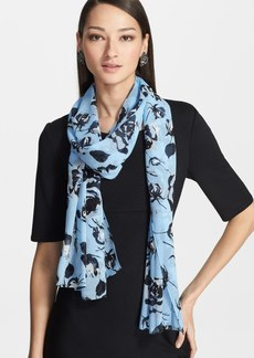 St. John Collection Rose Bud Print Silk Georgette Scarf