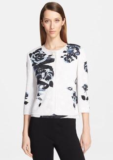 St. John Collection Rose Jacquard Knit Jacket