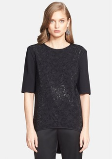 St. John Collection Sequin Embellished Jersey Top