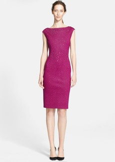 St. John Collection Sequin Embellished Sparkle Milano Knit Dress