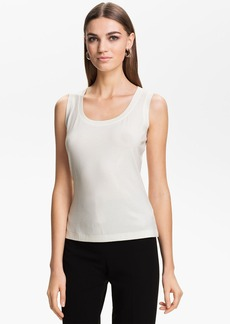 St. John Collection Sequin Jersey Tank