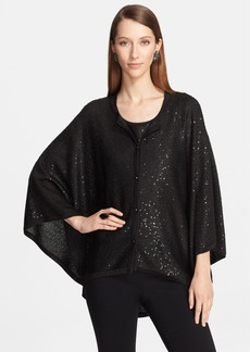 St. John Collection Sequin Knit Trapeze Cardigan