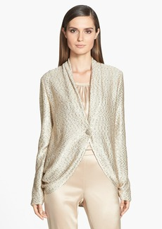 St. John Collection Sequin Ruched Knit Cardigan