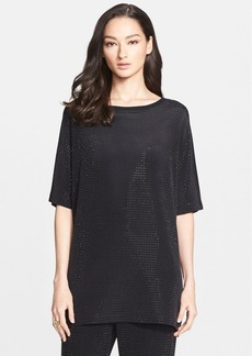 St. John Collection Sequin Silk Crepe & Washed Jersey Tunic