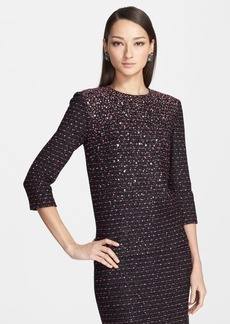 St. John Collection Sequined Textured Knit Top