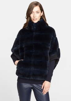 St. John Collection Genuine Sheared Rabbit Fur Jacket
