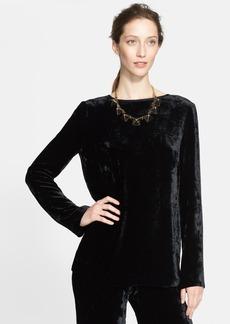 St. John Collection Silk Blend Velvet Tunic