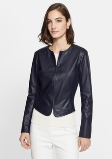 St. John Collection Soft Nappa Leather Jacket
