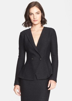St. John Collection Sparkle Double Breasted Tweed Knit Jacket