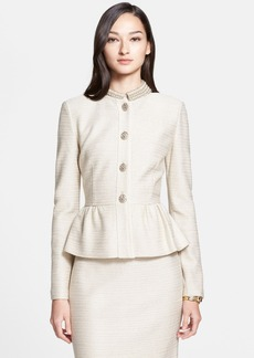 St. John Collection Sparkle Float Knit Collarless Jacket