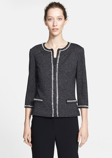St. John Collection Sparkle Jersey Knit Cardigan