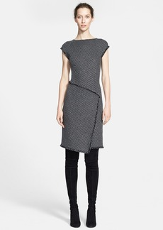 St. John Collection Sparkle Macro Twill Knit Dress (Online Only)