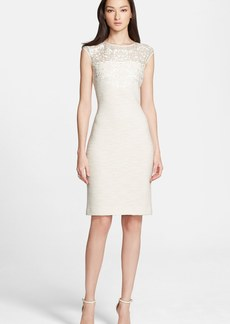 St. John Collection Sparkle Shantung Knit Dress