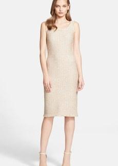 St. John Collection Sparkle Tweed Knit Sheath Dress