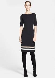 St. John Collection Stripe Hem Milano Knit Dress